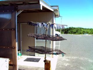 角島灯台 駐車場 魚 干物