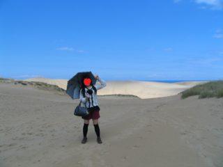 鳥取砂丘 出発時 服装(妻)