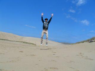 鳥取砂丘 ジャンプ 私