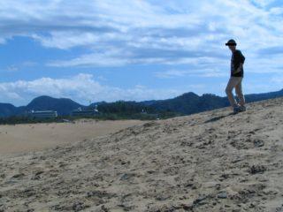 鳥取砂丘 決めポーズ 私