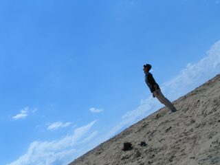 鳥取砂丘 カッコイイ写真 私