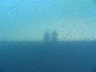 鳥取砂丘 近く 港 影遊び1