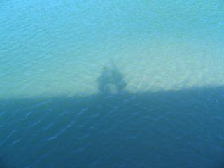 鳥取砂丘 近く 港 影遊び2月