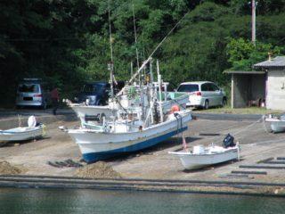 鳥取砂丘 近く 港 すべり 漁船