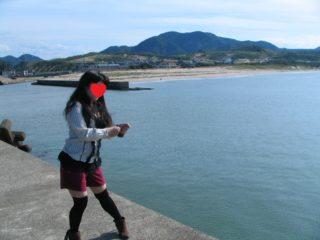 鳥取砂丘 近く 港 釣り名人 妻