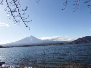湖畔と富士