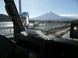 車内から富士